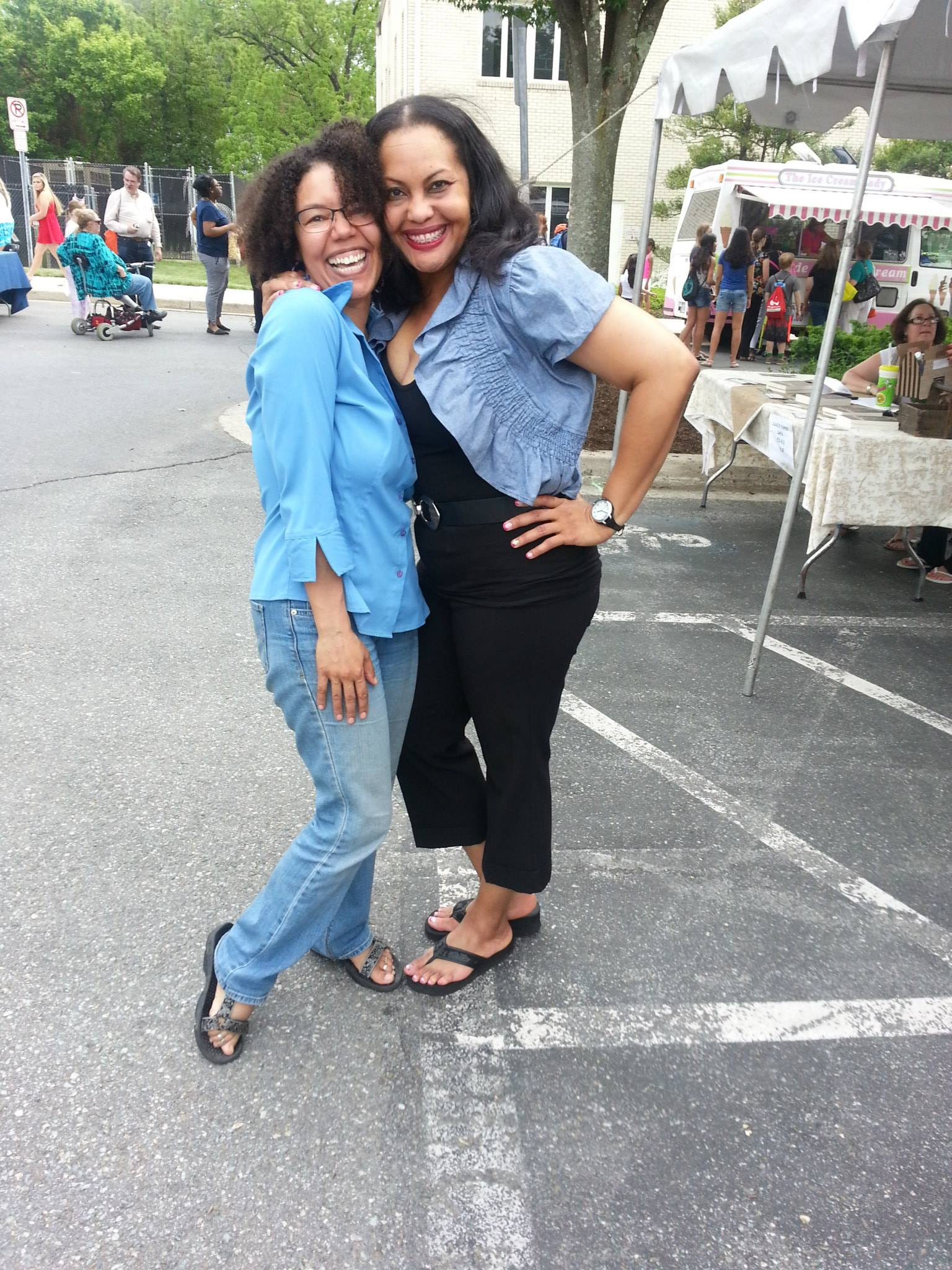 Me and Dee at the Gaithersburg Book Festival earlier this year.
