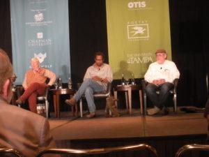 From left, Judy Grahn, Percival Everett, and Richard Bausch